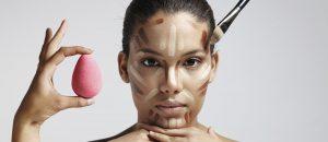 Contouring du visage make up